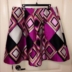 NWT Lane Bryant Geometric Print A-Line Skirt